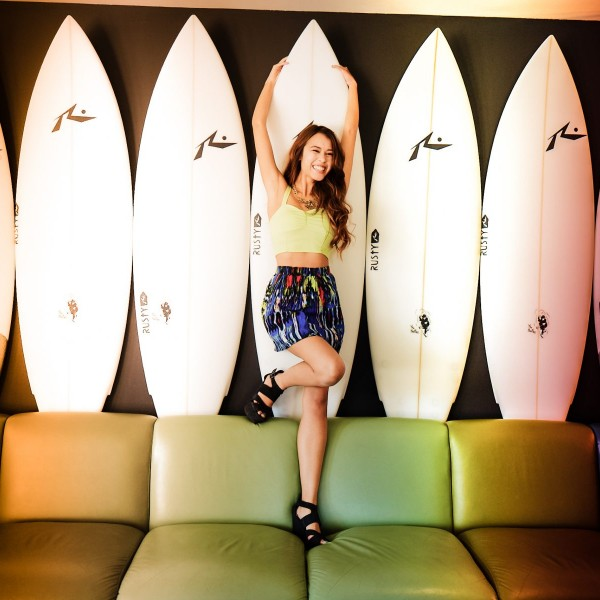 Woman surf